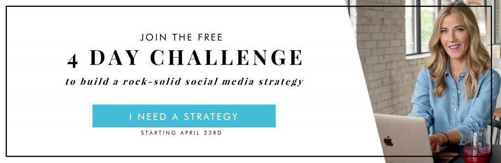 FREE 4 DAY SOCIAL MEDIA STRATEGY CHALLENGE
