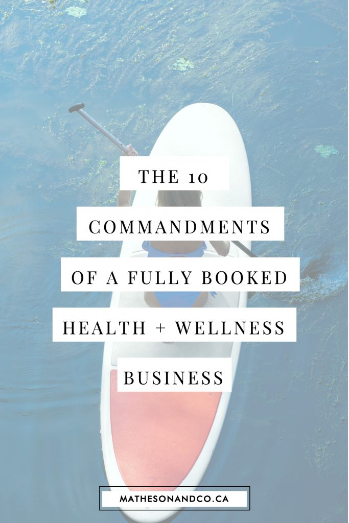 10 commandments of a fully booked practice