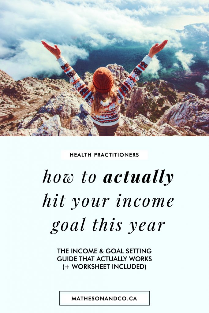 how to actually hit your income goal