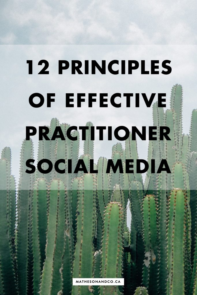 12 Principles of Effective Practitioner Social Media