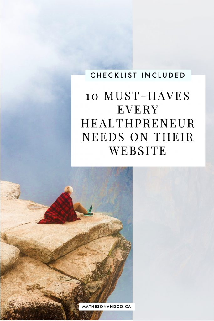 10 must-haves every healthpreneur needs on their website