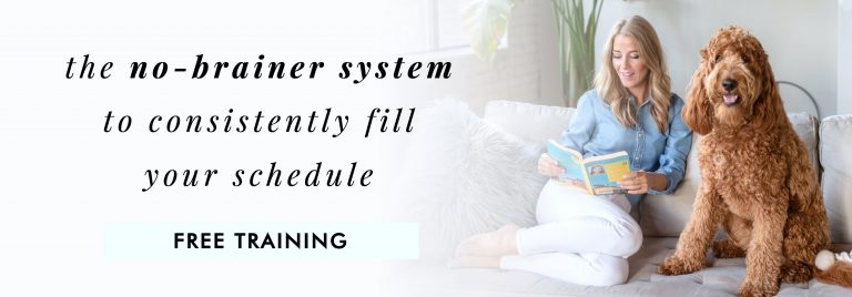 free training: the no-brainer system to consistently fill your schedule