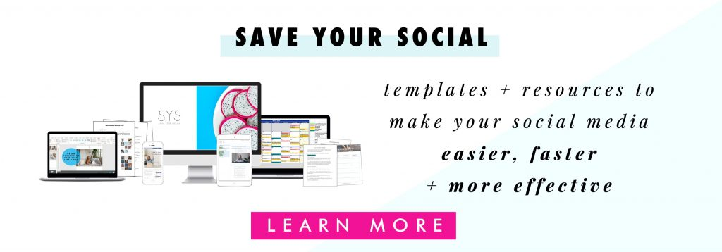 Save Your Social: resources + templates for simple social media