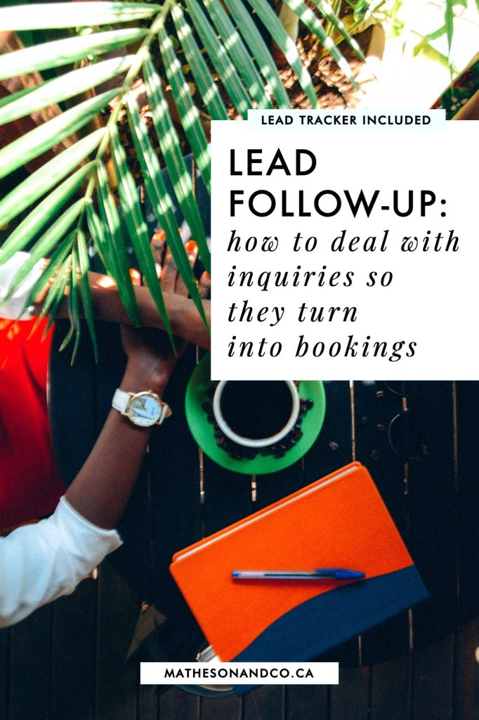 lead follow-up: how to deal with phone + email inquiries so they translate to bookings