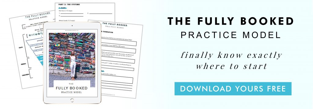 the fully booked practice model