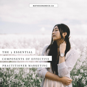 3 essential components of effective practitioner marketing